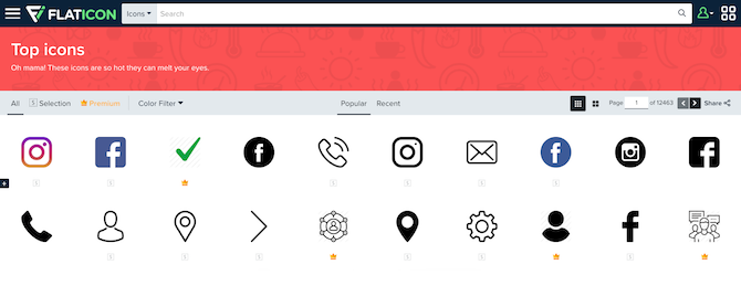 Flaticon-homepage