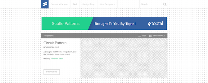 Subtle-Patterns-homepage