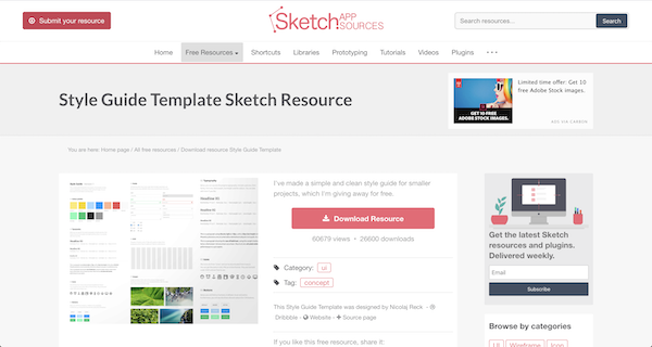 Sketch Style Guide
